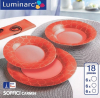 Столовый сервиз Luminarc Soffici Carmin на 6 персон 18 предметов