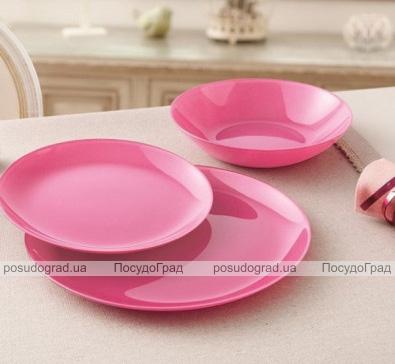 Набор 6 обеденных тарелок Luminarc Arty Pink Ø26см, стекло
