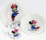 Детский набор Luminarc Minnie Mouse 3 предмета: пиала, кружка, тарелка для девочки