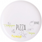 Набір 6 блюд для піци Luminarc Friends Bistrot Ø32см, склокераміка