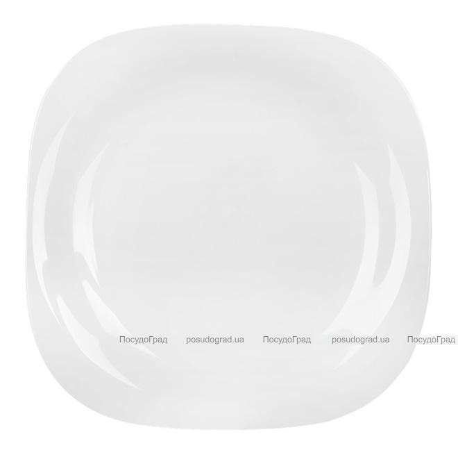 Набір 6 десертних тарілок Luminarc Carine White, квадратні 19см