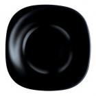 Набір 6 десертних тарілок Luminarc Carine Black, квадратні 19см