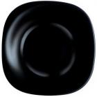 Набір 6 обідніх тарілок Luminarc Carine Black, квадратні 26см