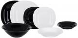 Столовий набір Luminarc Carine Black&White 19 предметів на 6 персон