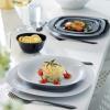 Набір 24 супових тарілки Luminarc Carine Granit, квадратні 21см