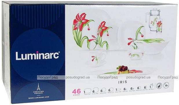 Столовий сервіз Luminarc Carine Iris на 6 персон 46 предметів