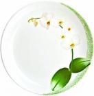 Набір 6 обідніх тарілок Luminarc White Orchid Ø27см, склокераміка