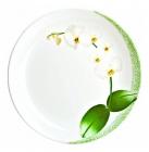 Набір 6 десертних тарілок Luminarc White Orchid Ø19см, склокераміка