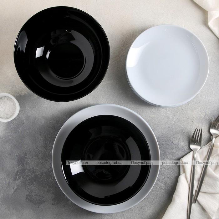 Набір 6 салатників Luminarc Diwali Black Ø14.5см
