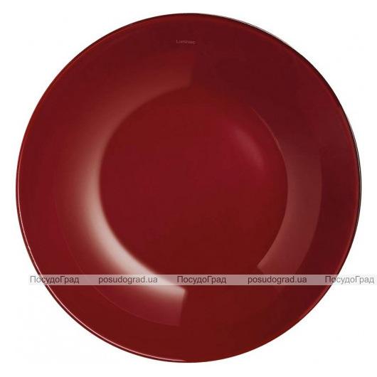 Набір 6 супових тарілок Luminarc Arty Burgundy Ø20см, скло