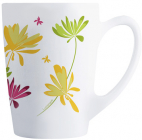 Набор 6 кружек Luminarc New Morning Crazy Flower 320мл, стеклокерамика