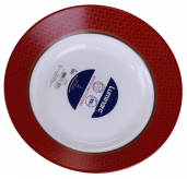 Набір 6 супових тарілок Luminarc Soen Red Ø22см, склокераміка