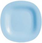 Набор 24 обеденных тарелки Luminarc Carine Light Blue, квадратные 27см