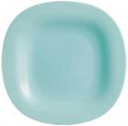 Набор 24 обеденных тарелки Luminarc Carine Light Turquoise, квадратные 27см