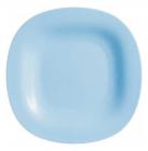 Набор 24 десертных тарелки Luminarc Carine Light Blue, квадратные 19см
