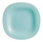Набір 24 десертних тарілки Luminarc Carine Light Turquoise, квадратні 19см