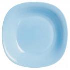 Набор 24 суповых тарелки Luminarc Carine Light Blue, квадратные 21см