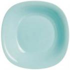 Набір 24 супових тарілки Luminarc Carine Light Turquoise, квадратні 21см