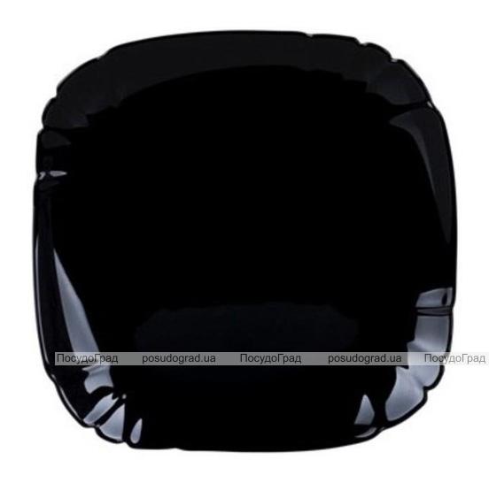 Набір 6 десертних тарілок Luminarc Lotusia Black Ø21см, склокераміка