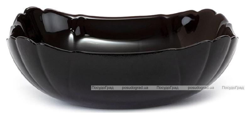 Набор 6 квадратных салатников Luminarc Lotusia Black Ø15см, стеклокерамика