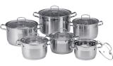 Набор кухонной посуды LUXBERG Jakarta 6 кастрюль от 2.1л до 7.7л с крышками