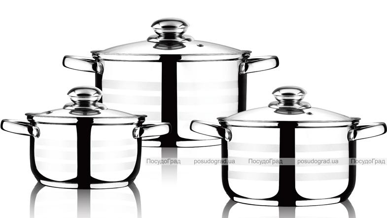 Набор 3 кастрюли LUXBERG Radiance 1.8л, 2.5л и 3.5л индукционные с мерной шкалой и крышкой