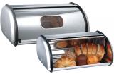 Набір 2 хлібниці LUXBERG Farina 36x24x15см і 43x27x18см з нержавіючої сталі