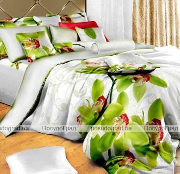 """Комплект постельного белья Love You Сатин 3D """"Орхидея"""" Евро"""