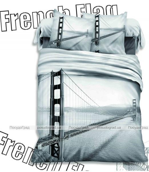 """Комплект постельного белья Love You Сатин 3D """"Мост желаний"""" Евро"""