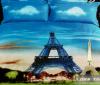 """Комплект постельного белья Love You Сатин 3D """"Париж"""" Евро"""