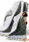 Плед Love You Шары 140х200 серый, хлопок