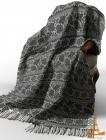 Плед Love You Индия 140х200 темно-серый, хлопок