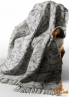 Плед Love You Лилия 140х200 серый, хлопок