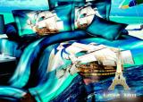 """Комплект постельного белья Love You Сатин 3D """"Фрегат"""" Евро"""