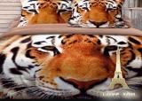 """Комплект постельного белья Love You Сатин 3D """"Тигр"""" Полуторный"""