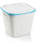 Кошик Ucsan Basket для білизни пластиковий 30x30x28см, білий