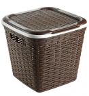 Кошик Ucsan Basket для білизни пластиковий 30x30x28см, коричневий