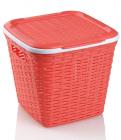 Кошик Ucsan Basket для білизни пластиковий 30x30x28см, кораловий