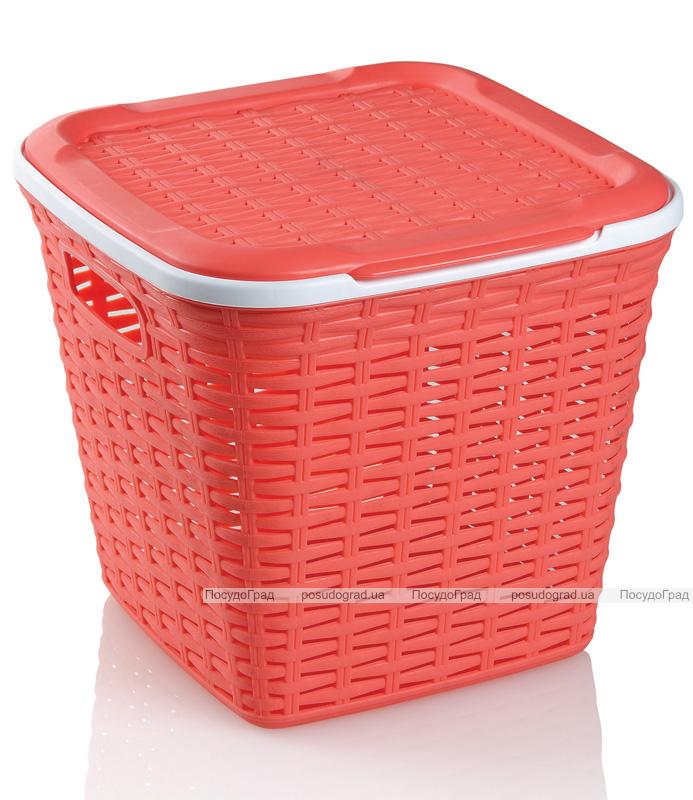 Корзина Ucsan Basket для белья пластиковая 30x30x28см, коралловая