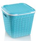 Кошик Ucsan Basket для білизни пластиковий 30x30x28см, бірюзовий