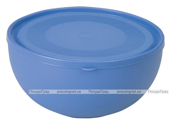 Салатница Ucsan Frosted Bowl пластиковая 2500мл круглая с крышкой