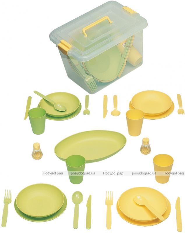 Набор для пикника Ucsan на 4 персоны 28 предметов в ящике