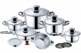 Набор кухонной посуды Millerhoff 17 предметов с термодатчиками на крышках