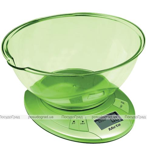 Кухонные весы Mirta SKE 325G электронные до 5кг с функцией измерения температуры воздуха