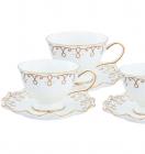 "Чайный сервиз Milleroy&House ""Gold on White"" 220мл 12 предметов на 6 персон"