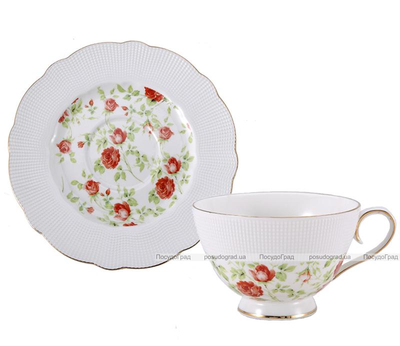 """Чайный сервиз Milleroy&House 220мл 12 предметов """"Чайная роза"""""""