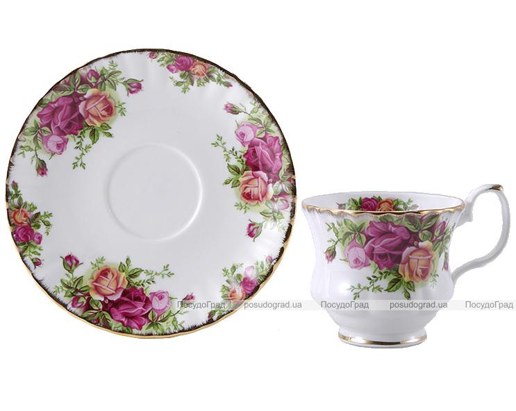 """Чайный сервиз Milleroy&House 220мл 12 предметов """"Куст розы"""""""