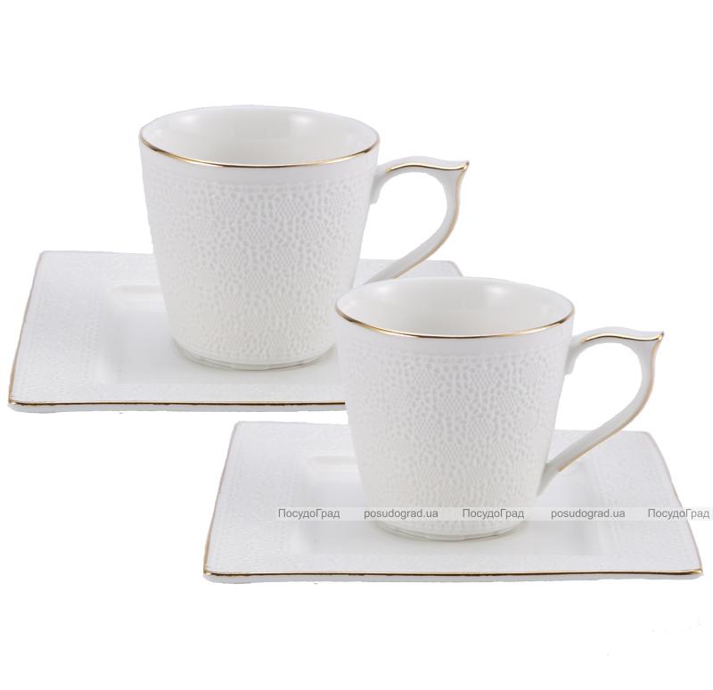 "Чайный сервиз Milleroy&House ""Gold on White"" 220мл 12 предметов на 6 персон, дизайн 30"