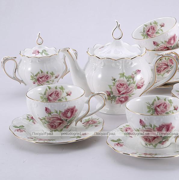 """Чайный сервиз Milleroy&House 240мл 16 предметов """"Розы"""""""