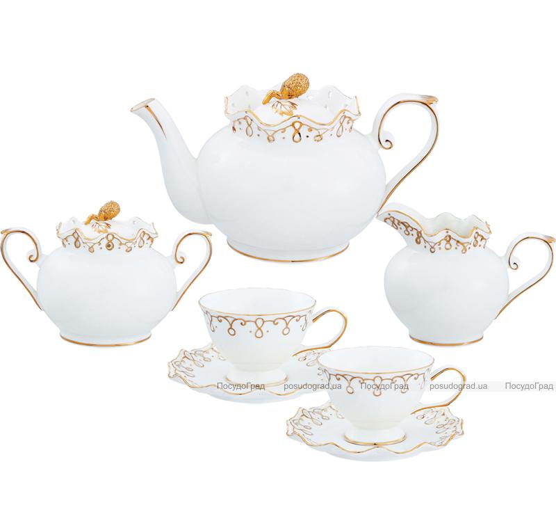 "Чайный сервиз Milleroy&House ""Gold on White"" 220мл 15 предметов на 6 персон"